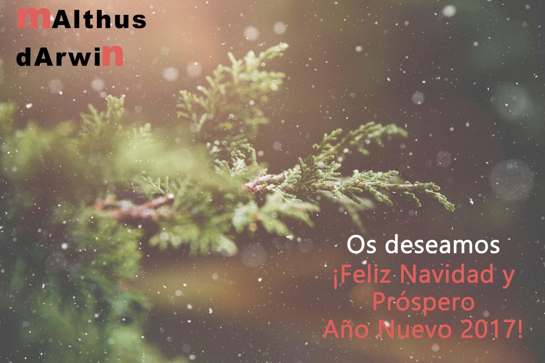 Desde Malthus Darwin os deseamos Felices Fiestas
